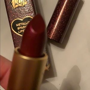 Too Faced metallic sparkle lipstick hot flash new
